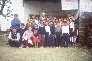 Our first dental program at the Kaskikot Sub-Health Post, for Sada Shiva Primary School, on May 9, 2004