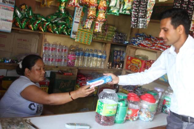 Vendor Outreach in Sardikhola with technician Megnath Adhikari